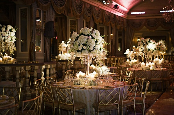 The Pierre New York indoor ballroom tables