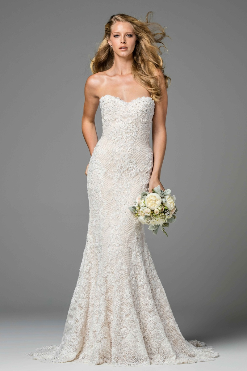 Bridal week the portrait collection from watters fall 2017 inside watters 2017 bridal collection strapless copeland lace beading wedding dress fit and flare junglespirit Images