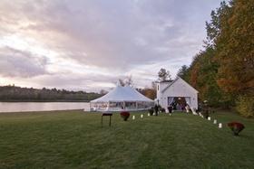 New Hampshire private lot wedding venue by lake