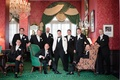 groom black white ensemble groomsmen inverse southern wedding greenbrier west virginia formal unique
