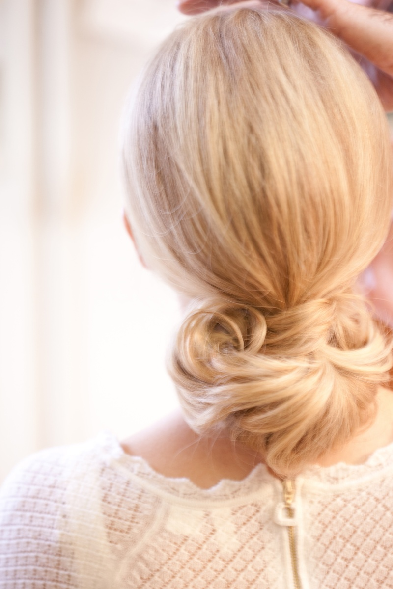 Keri Lynn Pratt wedding hair style with blonde hair