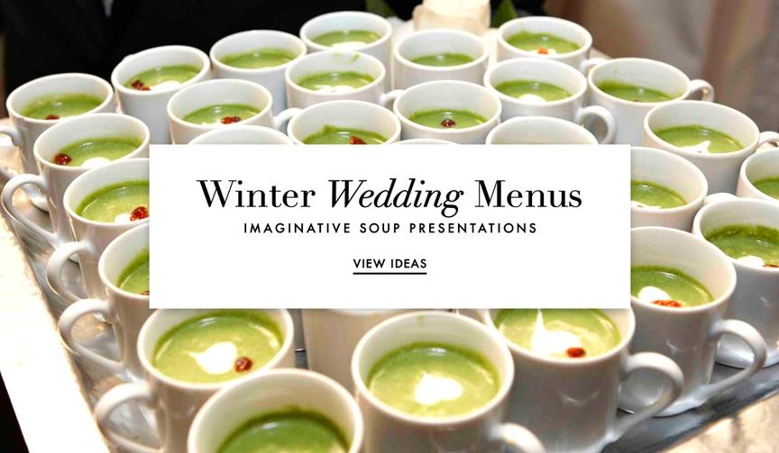 Wedding menu soup presentation ideas