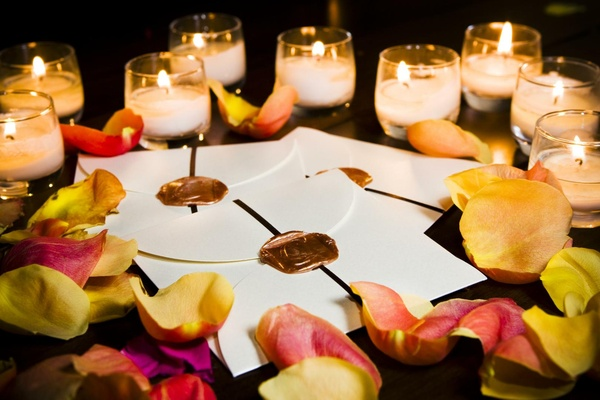 Wedding favor with custom copper wax seal