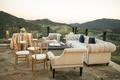 malibu rocky oaks wedding reception lounge area overlooking Santa Monica Mountains