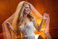 Bride in Pnina Tornai wedding dress and Toni Federici veil