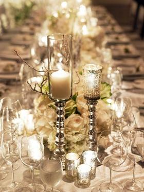 Mercury-glass votive candle holders
