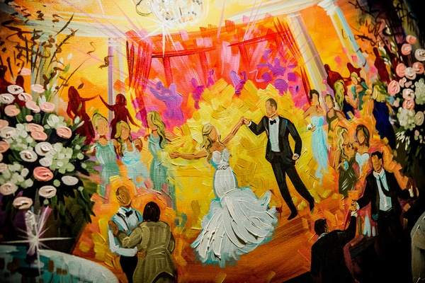 live painting of first dance at wedding