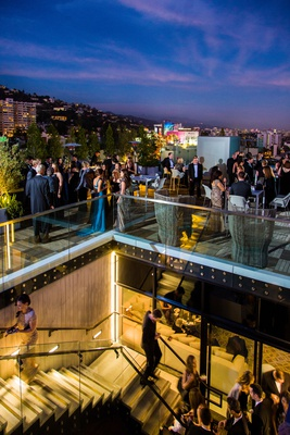 the london west hollywood rooftop cocktail hour, hollywood wedding venue