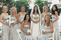 Vera wang bridal gown and bridesmaid dresses