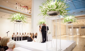 minimalist wedding ceremony in the modern wing of the art institute of Chicago
