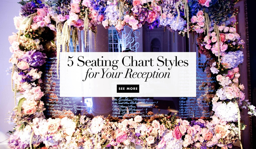 5 seating chart styles for your wedding reception