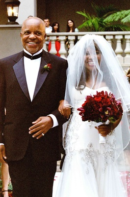 Motown records founder walks bride down aisle