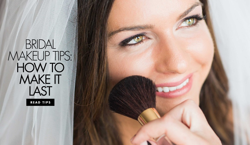 How to keep your wedding makeup maintained and preserved throughout the ceremony and reception.