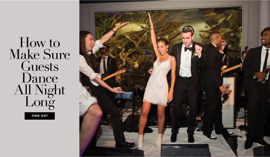How to make sure wedding guests stay on the dance floor all night long