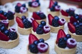 Graham cracker crust with fresh berries