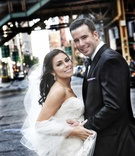 Bride and groom wedding portrait in Chicago