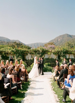 San Ysidro Ranch romantic outdoor wedding
