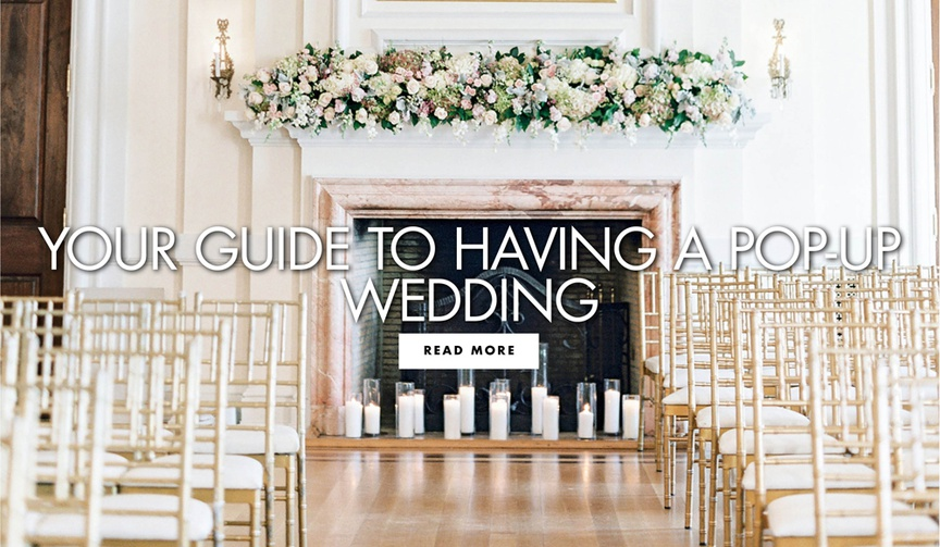 your guide to having a pop up wedding ceremony