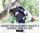 A sweet engagement shoot at central park in new york city by maya myers photography