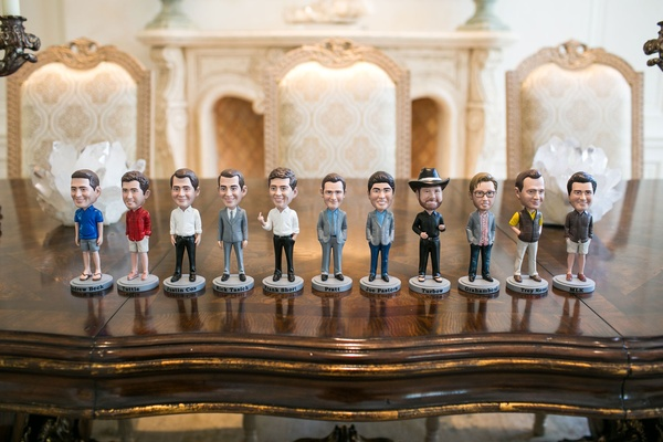 Bobbleheads of groom and groomsmen for wedding favors groomsmen gifts