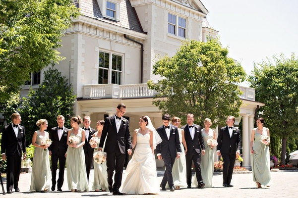 wedding party at the Chanler, Newport wedding