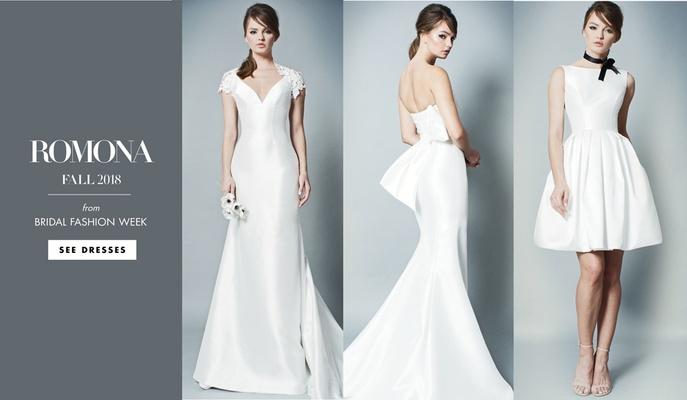 ROMONA by Romona Keveza Fall 2018 wedding dress gown bridal fashion week