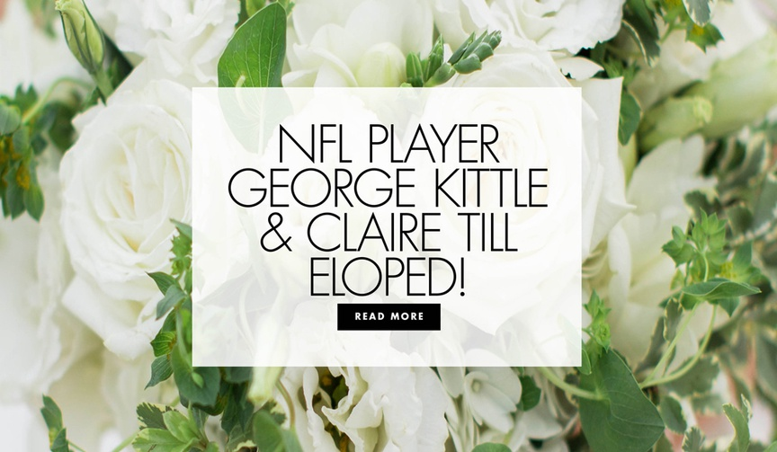 NFL player george kittle and claire till eloped