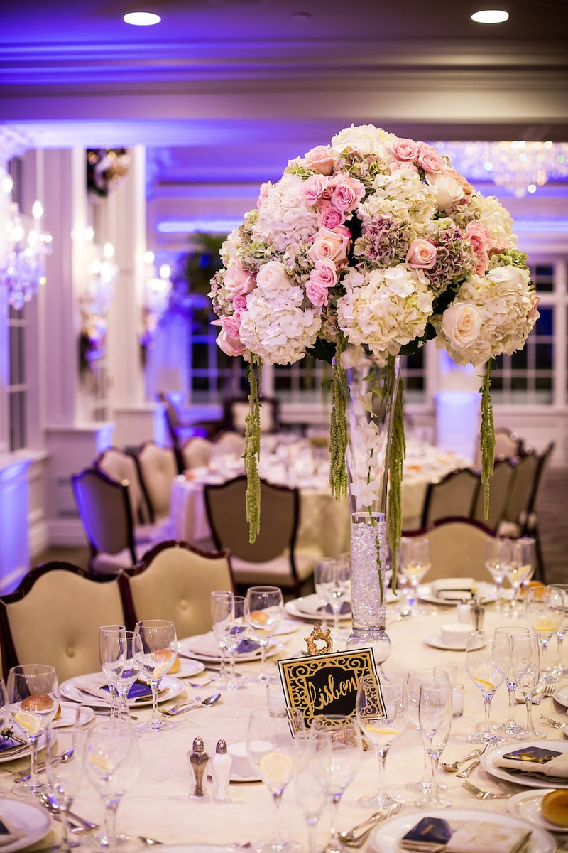 Reception Dcor Photos Tall Ivory Blush Centerpiece Inside