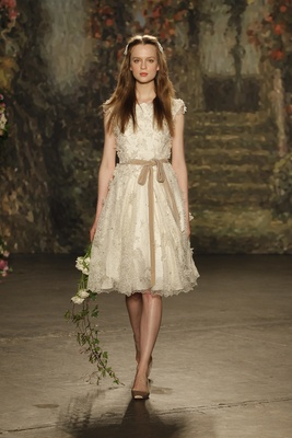 """A-line """"puck"""" dress with knee-length skirt by Jenny Packham"""