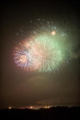 Wedding fireworks show in Chicago