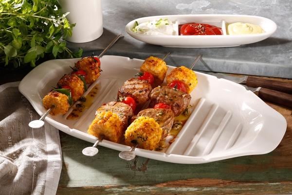villeroy & boch passion line, kebab serving platter with ridges