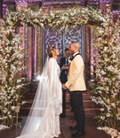 pia toscano american idol jimmy ro smith jennifer lopez wedding ceremony arch florals new york city