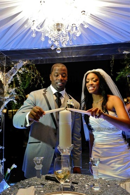 Porsha Williams and Kordell Stewart evening ceremony