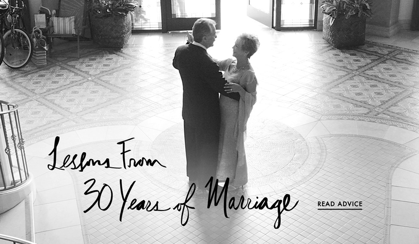 Happy marriage tips from the daughter of a couple married for 30 years