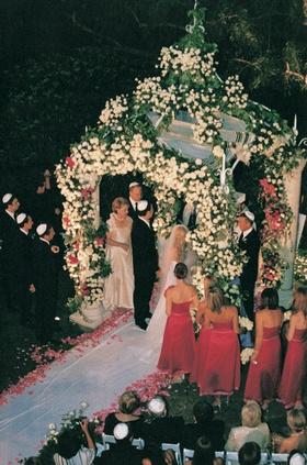 Evening Jewish ceremony