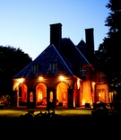 Glen Manor House wedding venue at night