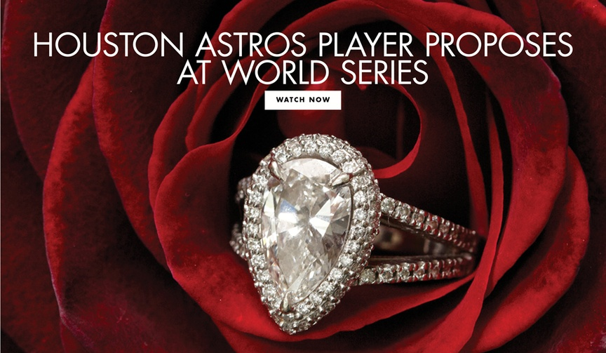 carlos correa proposes at world series, daniella rodriguez engagement ring