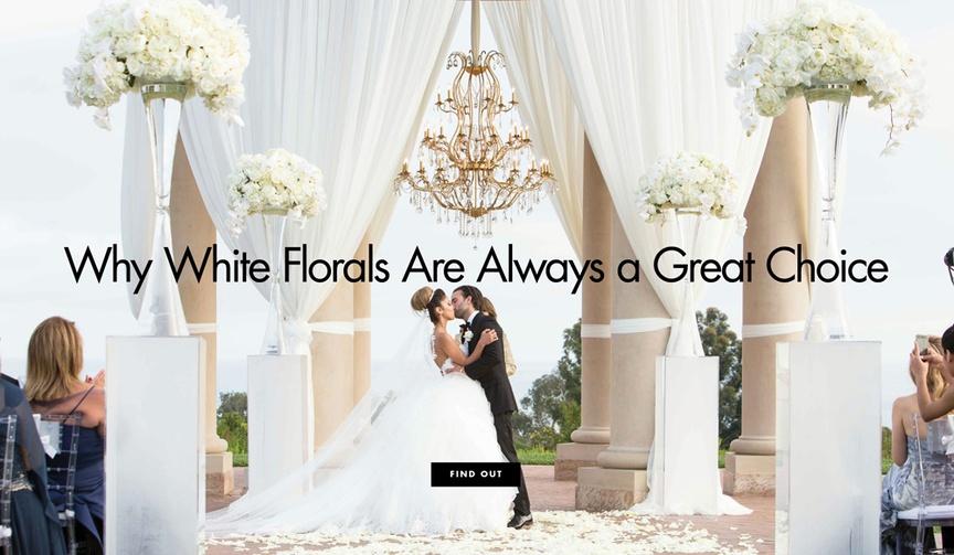 white flower arrangements popular for weddings
