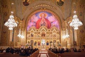 Saint Sophia Greek Orthodox Cathedral in Los Angeles with Original Runner Company aisle runner