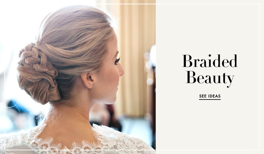 Braided wedding day hairstyles for brides
