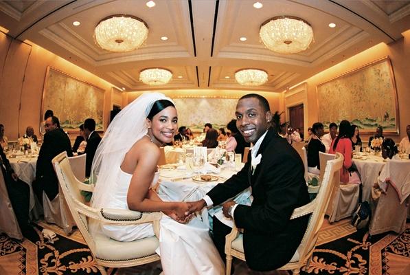 Peninsula Beverly Hills ballroom dinner service