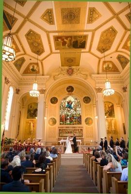 Wedding ceremony at Assumption Catholic Church, Chicago