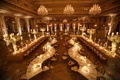 wedding reception at the mar a lago club florida s serpentine tables long table perimeter chandelier