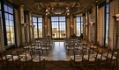 San Francisco skyline and intimate wedding setting