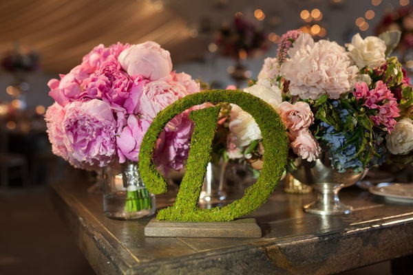 moss decoration enchanted peonies centerpiece idea