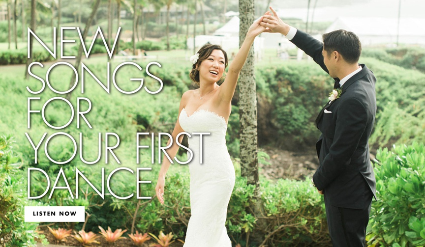 new songs for your first dance wedding reception song ideas
