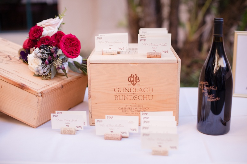 wedding escort cards on wine corks