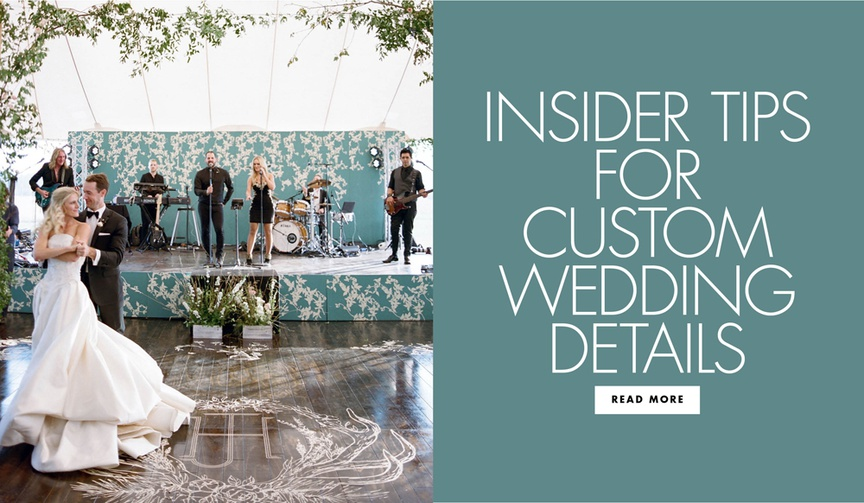 expert tips for custom wedding details to add something extra to your wedding reception decor