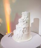 stair like white wedding cake contemporary museum art chicago unique interesting dessert