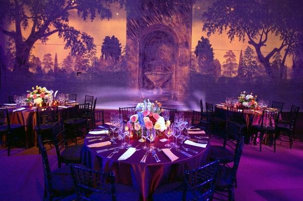 Wedding Reception Lighting Photography: Film-Themed Wedding At The Kodak Theatre